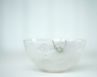Mint Green Gem and Silver Bracelet