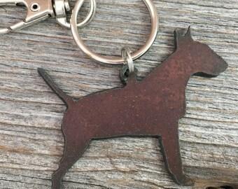 Bull Terrier Keychain, Bull Terrier Key Chain, Terrier Keyring, Key Ring, Dog Lover Gift, Gifts for Dog Mom Pet Loss Memorial Dog Lovers