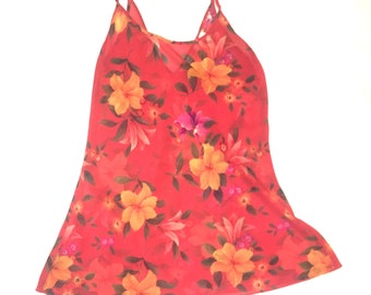 90's tropical slip dress