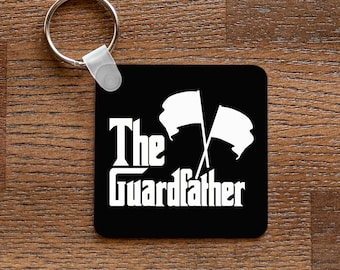 The Guardfather Keychain - for Colorguard Dads