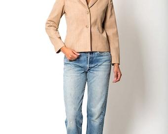 The Vintage Tan Pendleton Wool Blazer Jacket