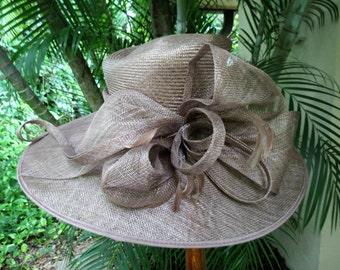 Fantastic Wide Brim Runway Straw Hat - Large Formal Straw Hat