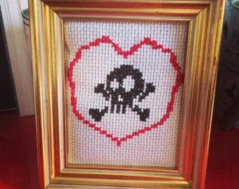 Skull in a heart