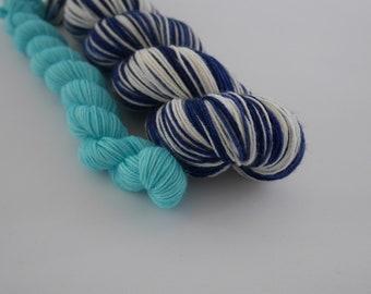 LOVE SOCK self-striping, Plouf à Bali, merino nylon sock yarn,100g