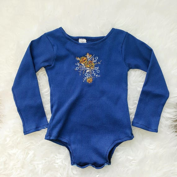 Ophelia Embroidered Long Sleeve Baby Leotard