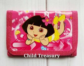 Dora Wallet/Dora the Explorer Wallet/Dora Money Holder/Nickelodeon Wallet/Girls Wallet/Kids Wallet/Dora Accessory/Character Wallet