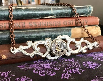 Steampunk Jewelry, Watch Gear Necklace, Watch Jewelry, Watch Movement