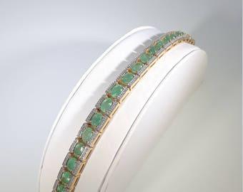 Emerald Oval Bracelet