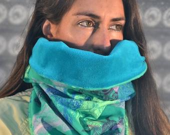 Hand Printed Neck Warmer, Hand Printed Garment, Textile Illustration, Textile Design, Hand Made