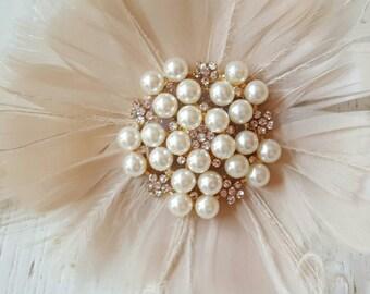 Wedding Feather headpiece, Feather Headpiece, Bridal Feather Hairpiece, Feather Hairpiece, Bridal Hair Accessories, Hair Accessories