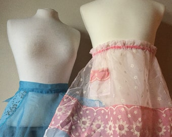 Vintage Kitchen Apron Sexy 1950s Sheer Lace Aprons 50s Daisy Chiffon Half Apron Set of 3 Film Prop Sexy Cooking Accessory Holiday Home Maker