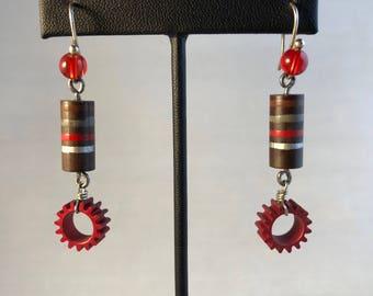 Carbon Resistors Earrings - Vintage Electronics Earrings - Steampunk - Avant Garde -