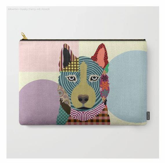 Siberian Husky Pouch, Husky Purse, Siberian Husky Gifts, Husky Wallet, Pet Pouch, Pet Gifts,  Dog Pouch, Zipper Bag Purse, Dog Zipper Pouch