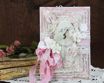 Shabby Chic Vintage Feminine Any Occasion Greeting Card