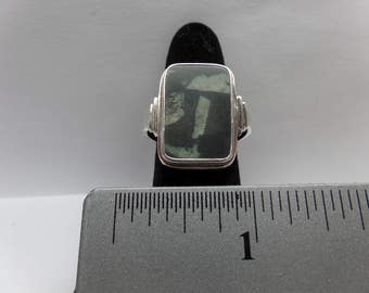 Vintage Sterling Silver Chinese Writing Stone / FEM