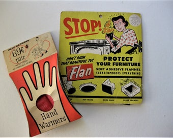 Vintage Hardware Store Kitschy Products, Hand Warmer and Flan Scratchproof