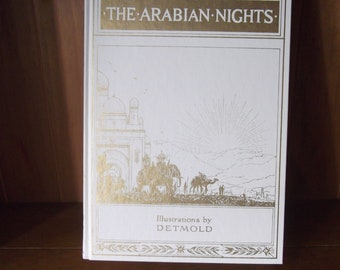 Illustrated Book in Slipcase - The Arabian Nights with Illustrations by Detmold