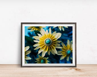 Flower Print, Flower Wall Art, Flower Decor, Flower Printable, Flower Art, Printable Wall Art - Instant Download