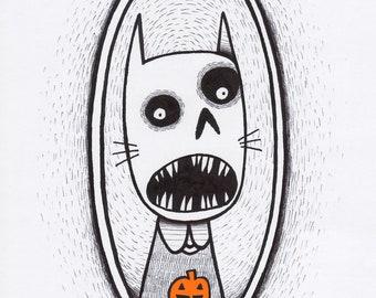 Halloween Cat - Print