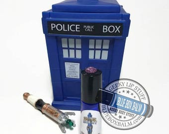 "Sonic Scent - ROSE'S TEA - ""Rose Tyler"" Doctor Who Inspired Body Scent - A Flirty Rose Tea Fragrance in a Blue Glass Roller Bottle"