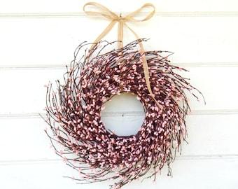 Pink Wreath-MINI Twig Wreath-PINK Mini Window Wreath-Wreaths-Baby Nursery-Baby Gift-Its a Girl-Easter Wreath-Pink Decor-Wall Decor-Gifts