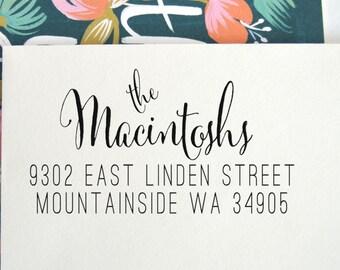 Calligraphy Address Stamp | Custom Address Stamp | Return Address Stamp | Return Address Label | Address Labels | Invitations, No. 24