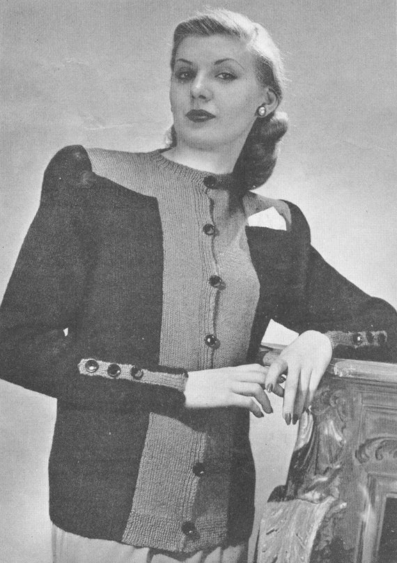 Vintage 1940s smooth figuring sweater knitting pattern pdf 4515 bust vintage 1940s smooth figuring sweater knitting pattern pdf 4515 bust 36 38 40 42 44 46 size s m l xl small medium extra large from cemetarian on etsy studio fandeluxe Gallery