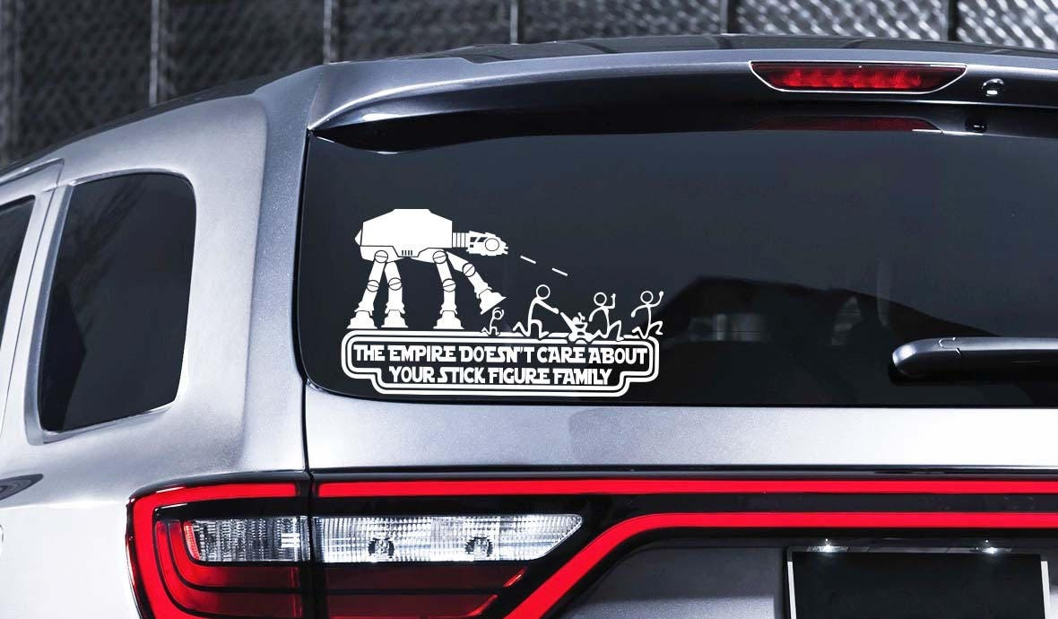 Star Wars Stick Figure Family Car Decal Star Wars Vinyl Decal - Star wars car decals