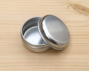 Round Metal Tins, Silver Color 15ml Tin Box, Lip Balm Box, DIY Container, Small Storage Box, Small Organizer