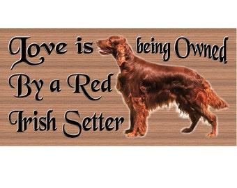 Irish Setter Wood Signs -Irish Setter GS446- Wooden Dog plaque