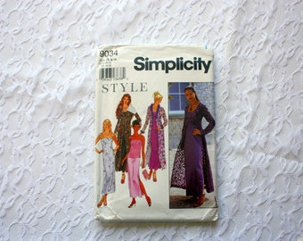 Simplicity 9034,  UNUSED Simplicity Pattern, Misses Coat, Dress or Top and Skirt