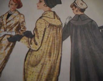 Vintage 1950's McCall's 4390 Coat Sewing Pattern Size 12 Bust 32