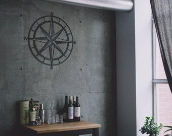 Nautical Compass Metal Art