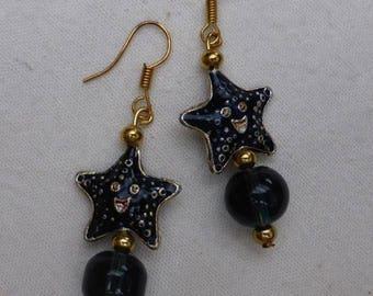 Marine stars earrings