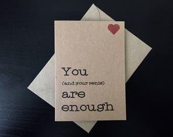 Naughty card etsy