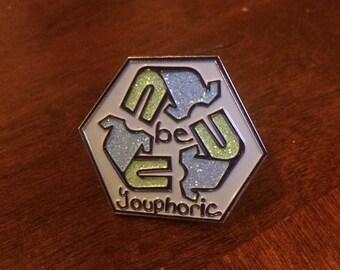 Be Youphoric Hat Pin- youphoriclothing logo festival pin, recycled clothing