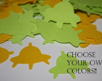 Choose your own Colors! Spaceship Die Cut Confetti Table Decor 200 pieces