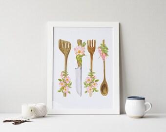 kitchen utensils art. Kitchen Utensil Art Utensils K