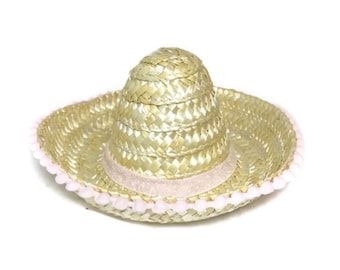 Mini Sombrero || Girl Party Hat || Customize Trim And Pom Pom Brim And Add Birthday Number