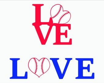 Baseball Love SVG/ Baseball SVG/ Baseball shirt design/ baseball love cut SVG/ Eps/ Dxf/ Eps/ Cricut/ Silhouette
