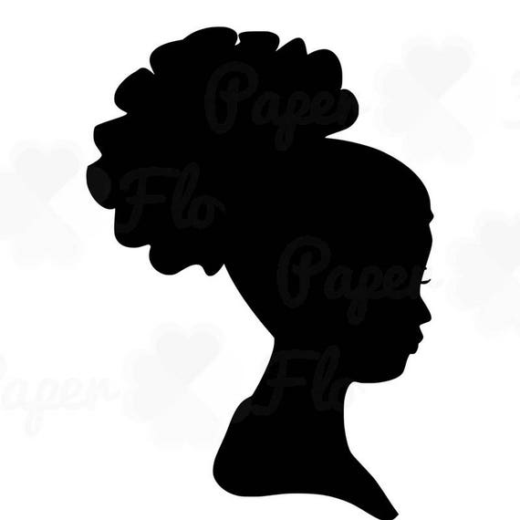 african woman silhouette svg clip art afro puff natural curly rh etsy com afro clipart png afro clip art designs
