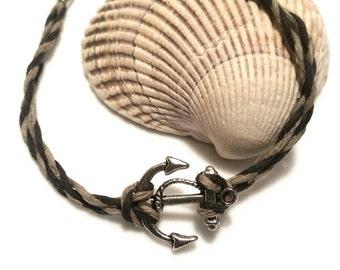 Anchor Bracelet Mens Jewelry Boyfriend Gift Teen Boy Nautical Beach Jewelry Sailing Ocean