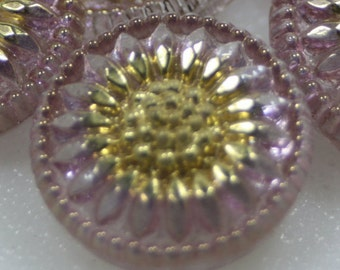 Czech Glass Button, Vintage Style, 18mm