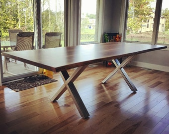 Custom Live Edge Black Walnut Dining Table