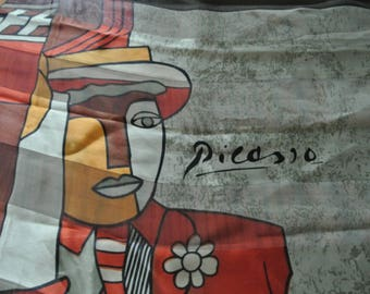 Awesome Vintage Picasso Scarf from Spain
