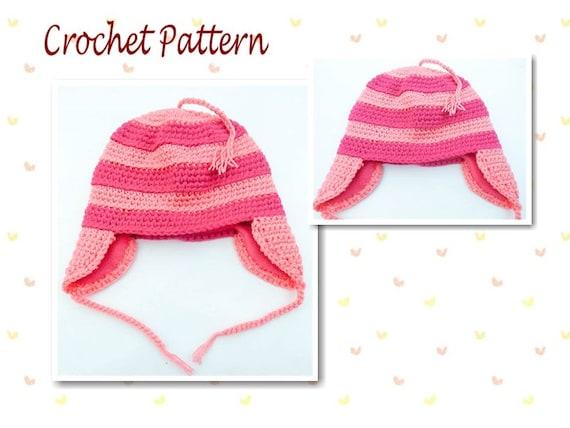 Crochet Pattern Edith Hat Earflap Beanie Character Hat Minion ...