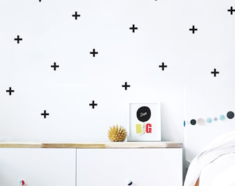 Cross Wall Decal Black Décor in Kids Room Fabric Wall Decal Scandinavian Children Décor Modern Kids Room Black White. Cross Wall Decal