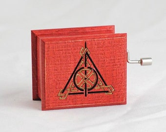 Harry Potter Deathly Hallows music box red  music box