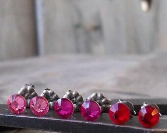 Gift for Girls - Stud Earring - Little Girl Earrings - Titanium Stud Earrings - Hypoallergenic - Titanium Earrings - Post Earrings