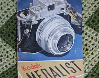 Vintage Kodak Medalist II Camera Book - Owner's Introduction Manual circa 1940s - Advertising and Stock Photography